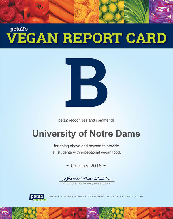 Vegan Report Card 18
